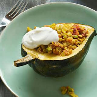 Curried Lentil Stuffed Squash.