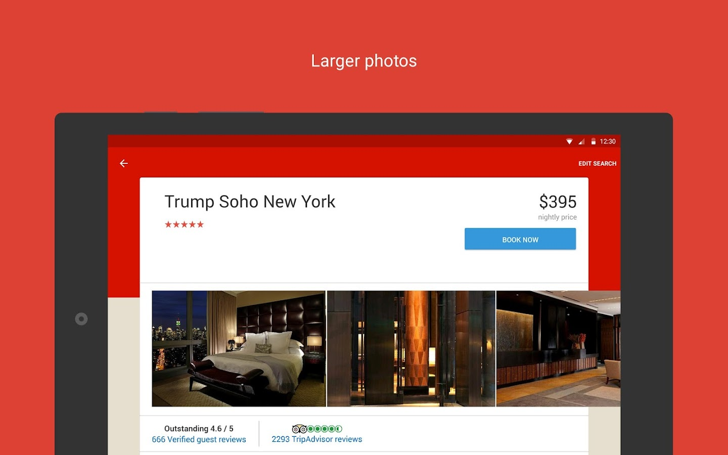 Screenshots of Hotels.com for Android