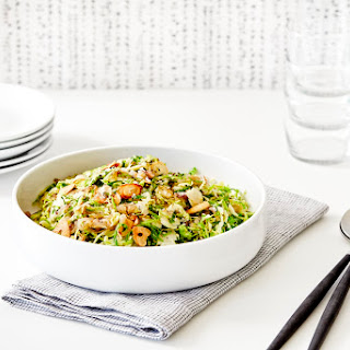 Shaved Brussels Sprouts with Sautéed Shallots