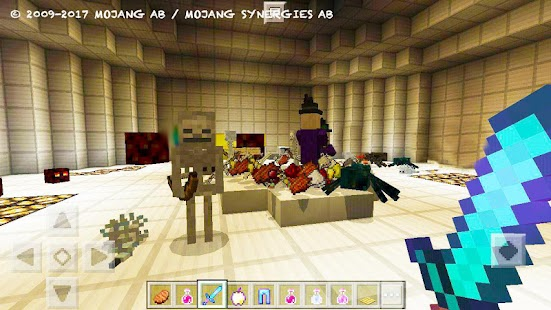 Zombie Arena. MCPE map arena on survival - náhled