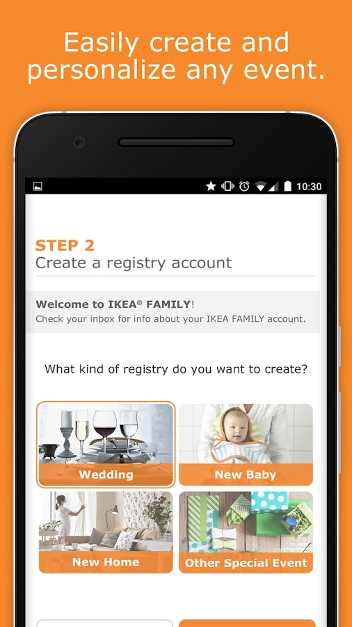 ikea gift registry android apps on google play. Black Bedroom Furniture Sets. Home Design Ideas