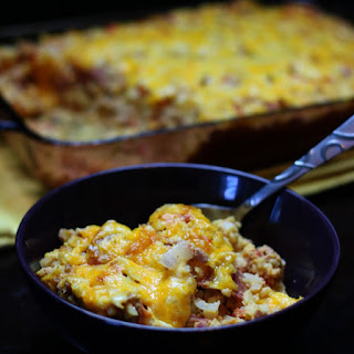 Bacon Cheeseburger Cauliflower Casserole Recipe