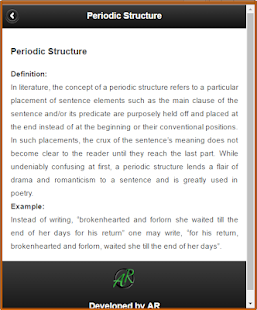 Literary Terms- screenshot thumbnail