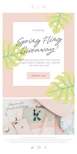 Spring Fling Giveaway - Medium Email item