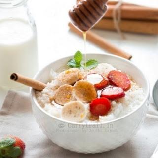 Spiced Rice Breakfast Porridge.