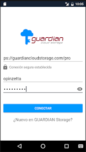 GUARDIAN Cloud Storage: miniatura de captura de pantalla