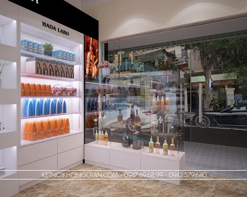 thiết kế cửa hàng tạp hóa xách tay