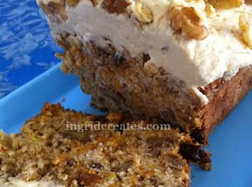 Carrot Cake with Butterscotch Cream Cheese Frosting