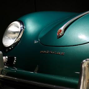 Porsche by Rob Rickman - Transportation Automobiles ( green, headlight, porsche )