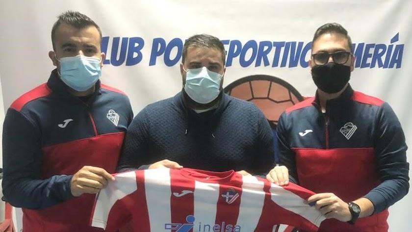 Carlos Hinojo, Cristian Úbeda y Ricardo García.