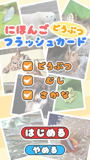日本語フラッシュカード(動物)