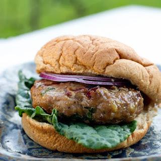 Cranberry & Kale Turkey Burgers