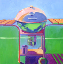 Photo: Weber, oil on canvas by Nancy Roberts, copyright 2014. Private collection.