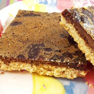Baked Carob Oatmeal Bars (Gluten-Free, Dairy-Free, Chocolate-Free).