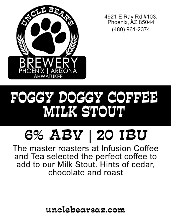 Logo of Uncle Bear's Foggy Doggy Coffee Milk Stout