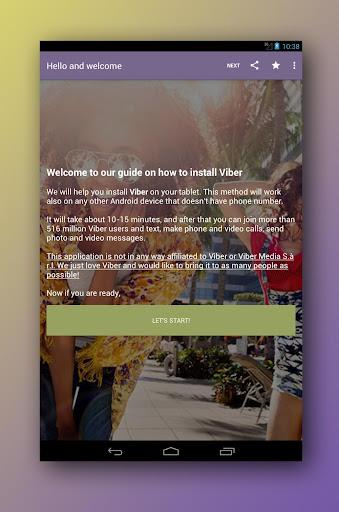 Install GUIDE: Viber on tablet