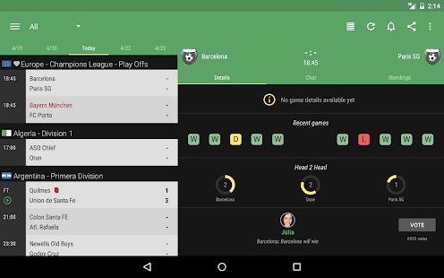 The Livescore App - screenshot thumbnail