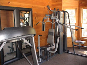Photo: Inside the exercise cabin