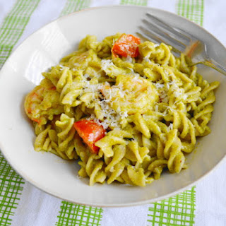 Chili Lime Shrimp Pesto Pasta