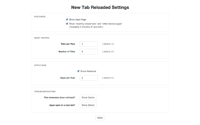 New Tab Reloaded