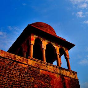 mandu rani roopmati pavalion.... by Vijay Singh Chandel - Buildings & Architecture Public & Historical ( hills, buildings, old city, historical, architecture,  )