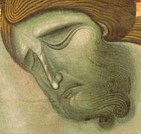 Maestro di San Francesco, 1272, particolare del volto, Galleria nazionale dell'Umbria, Perugia