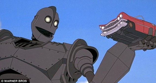BugJuggler looks similar to the Iron Giant (pictured) in the 1999 film of the same name. It was based on the 1968 story, Iron Man, by former British poet laureate Ted Hughes