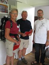 Photo: Erling Bjerrum-Petersen ønsker vandrere fra Haderslev velkomne til pilgrimstræffet