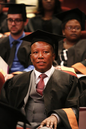 malema eyes advanced degree after graduating with ba endorsing emancipation through education