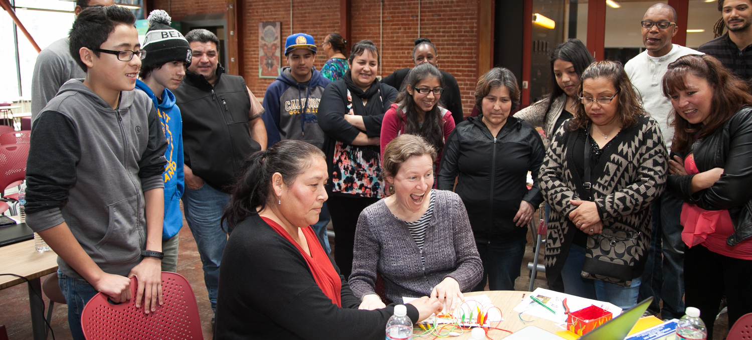 Our team and the community celebrates a milestone of a community adult learning coding skills in the center.