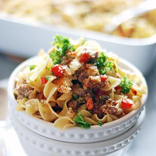 Sausage Casserole With Egg Noodles Recipes