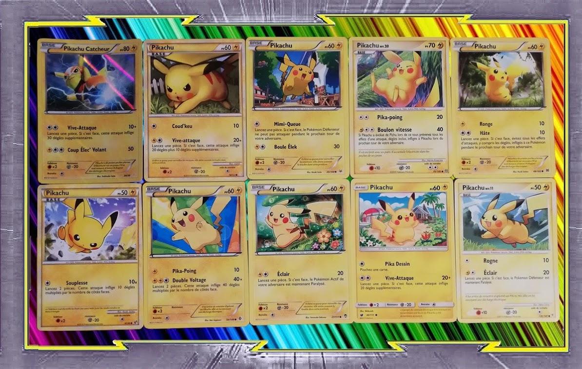 Lot de 160 cartes POKEMON Différentes Françaises avec des +100PV