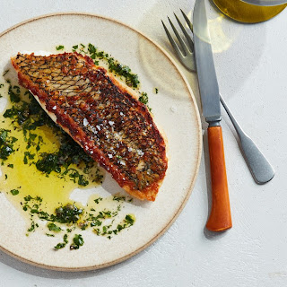 Crispy-Skinned Fish with Herb Sauce Recipe