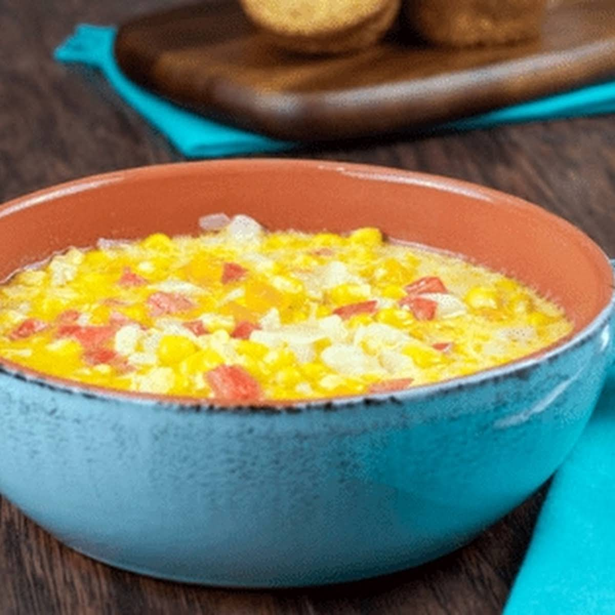 Corn and Pepper Soup (Instant Pot & Stove Top)