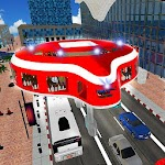 Gyroscopic Transport Bus: City Futuristic Driving Icon