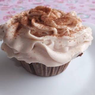 Chocolate Tiramisu Cupcakes with Raspberry Mascarpone Cream.