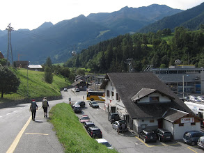 Photo: ... then walk over to the cable-car station for a ride up to Verbier and Les Ruinettes.