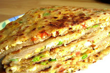 Stuffed Egg Parathas