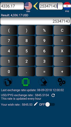 Us Dollar Paraguayan Guarani Currency Converter Screenshot 2