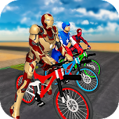 Superheroes BMX Bicycle Stunts: Tricky Missions