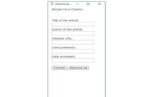Simple MLA Citation