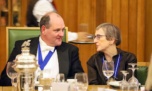 The Master and Master Plaisterer. Ald Alison Gowman, Barber-Surgeons' Hall, Autumn Dinner 2019