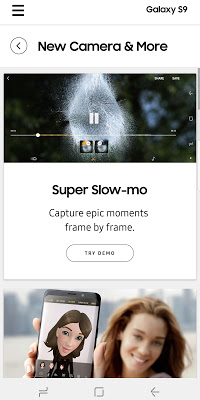 Experience app for Galaxy S9/S9+ - screenshot