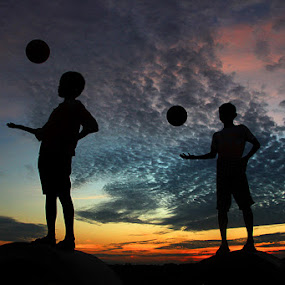 PLAY BALL II by Adhy Winata - Babies & Children Child Portraits