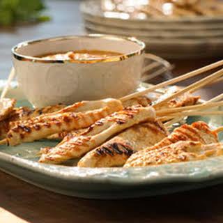 Valerie's Chicken Satay with Peanut Sauce.
