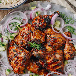 Grilled Tandoori Chicken with Indian-Style Rice Recipe
