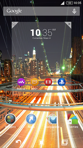 android For Xperia Theme Highway Screenshot 3