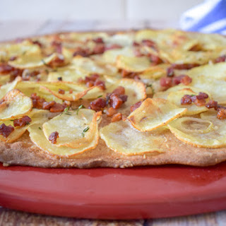 Pizza with Potatoes and Pancetta.