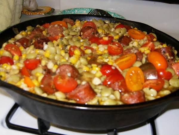 Summer Succotash With Smoked Sausage Recipe