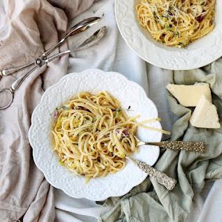 Leek Pancetta Pasta.